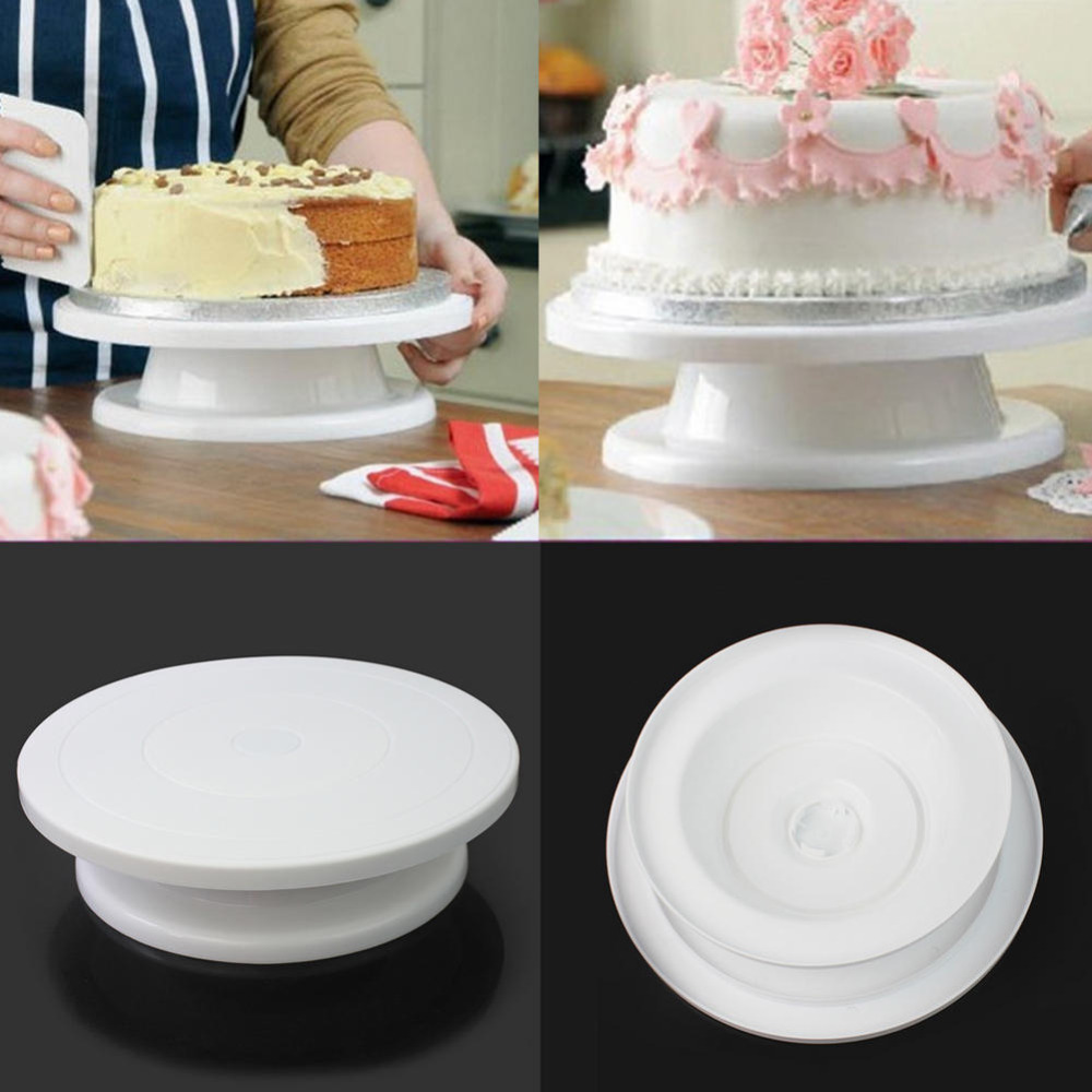 Cake Authoring tool Rotating Turntable plastic rotary table Cake Decorating Home pastry shop baking tools Manually rotatable