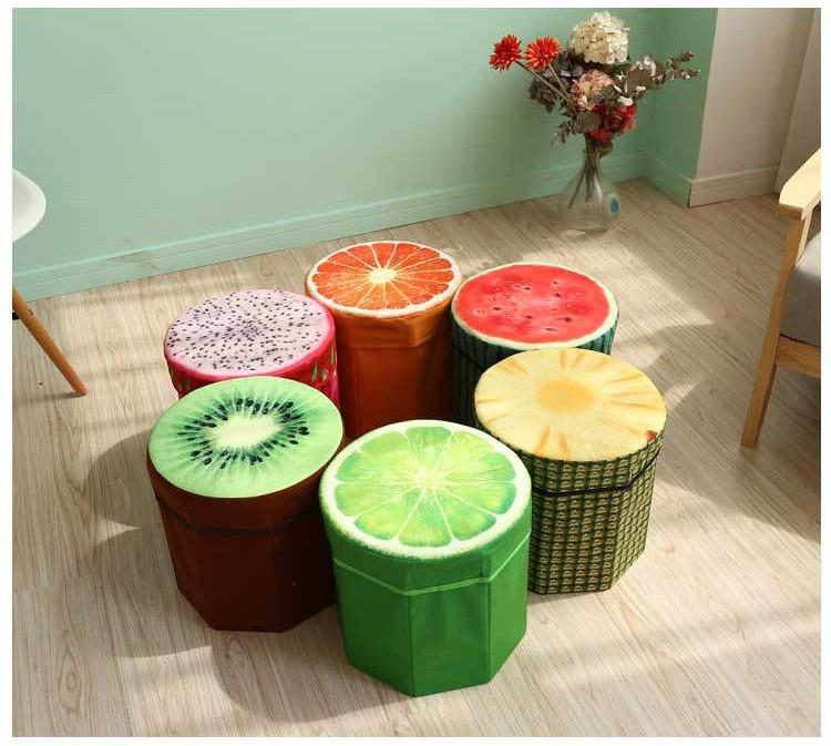 خرید صندلی جمع شونده سه بعدی طرح میوه فانتزی