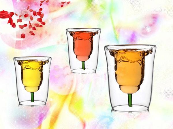 لیوان طرح گل رز
