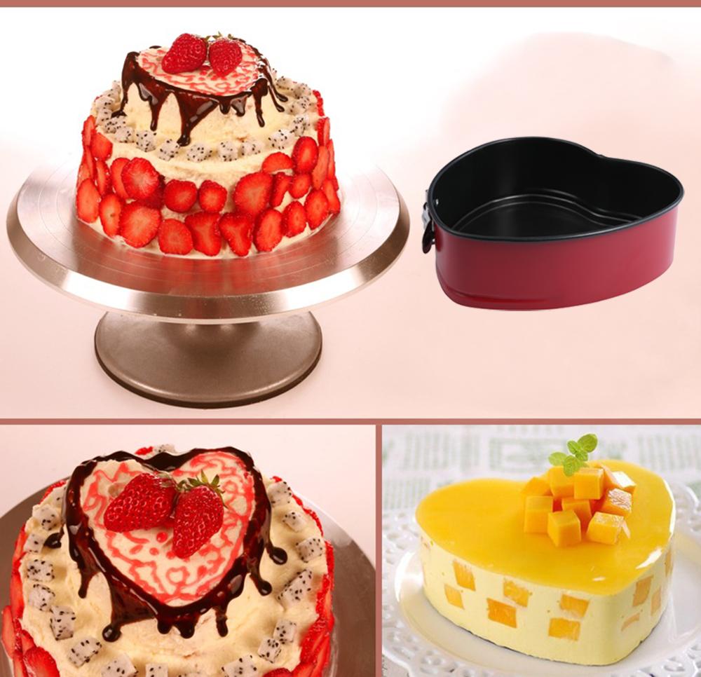 قالب کیک کمربندی قلبی