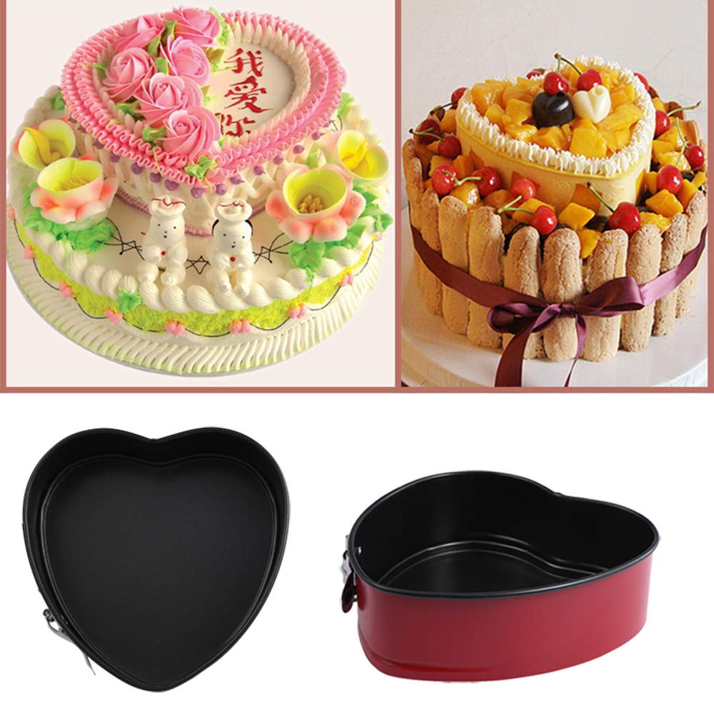 قالب سه تایی  کیک قلب شکل