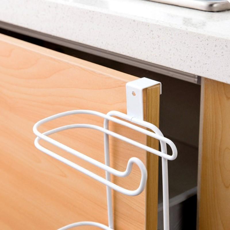 خرید اینترنتی آویز حوله و دستمال کابینتی دوتایی فلزی
