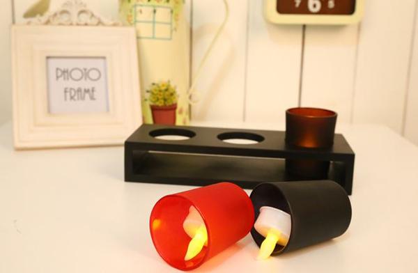 شمع ال ای دی 3 تایی با پایه