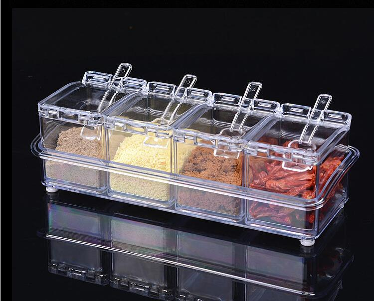خرید جا ادویه جات جنس کریستال شفاف شیشه ای 2020