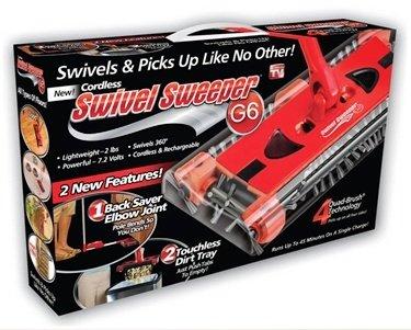 جارو شارژی مستطیلی swivel sweeper G6