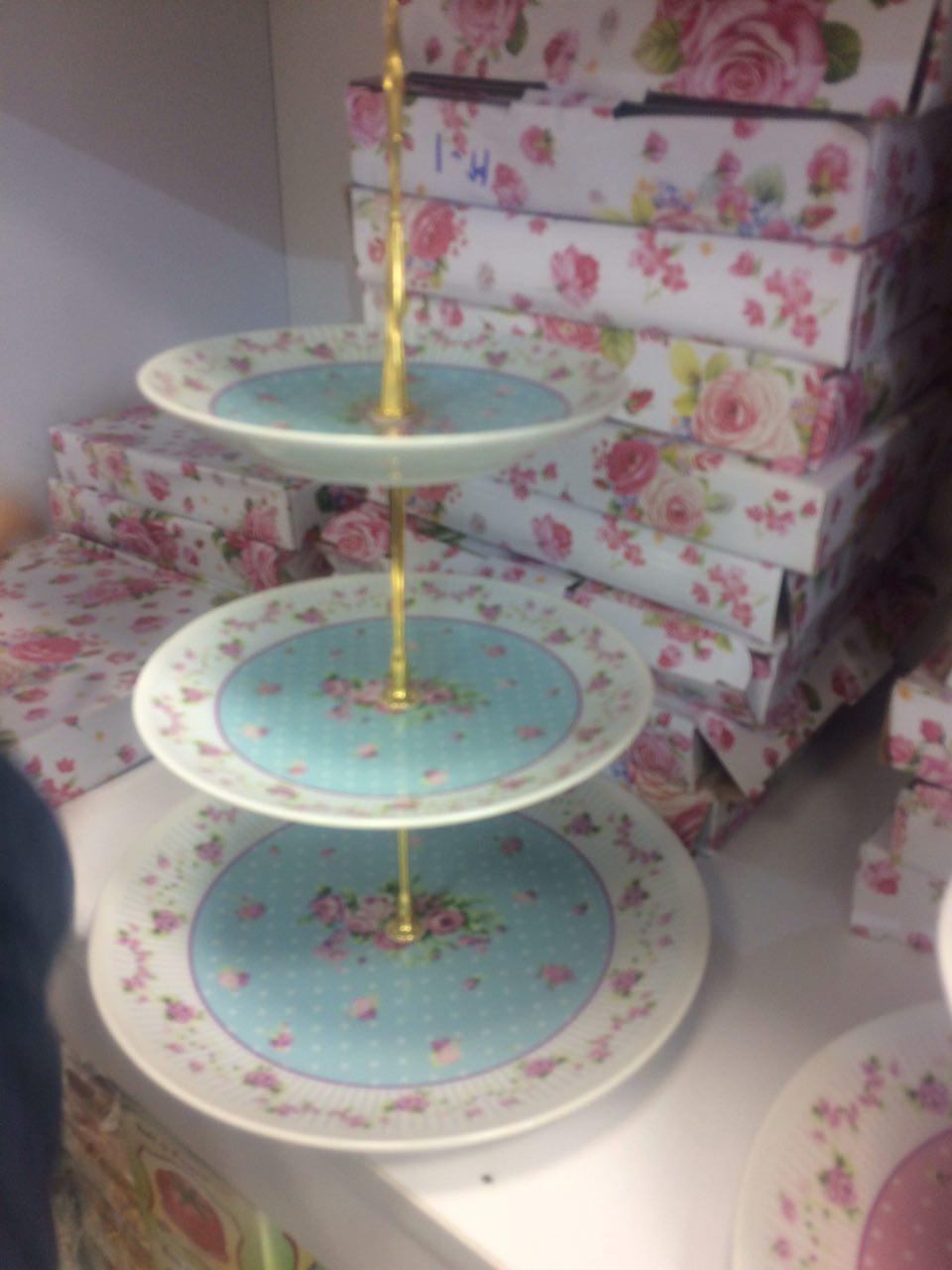 خرید شیرینی خوری سه طبقه طرح آنجل