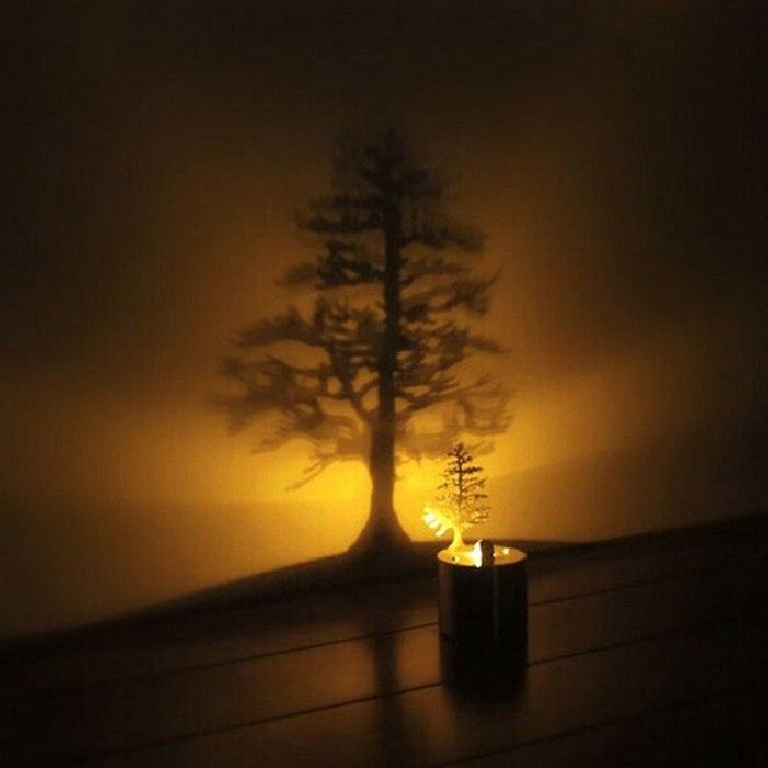 خرید چراغ سایه ساز LED طرح درخت