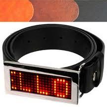 خرید کمربند LED مانیتور دار دارای رقص نور برای شلوار جوانان