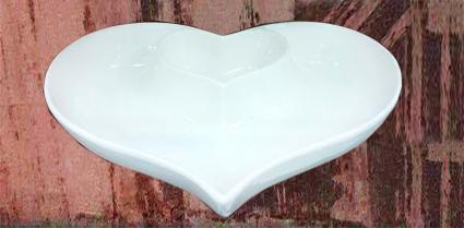 خرید پستی  اردو خوری سرامیکی طرح دو قلب---سری 1