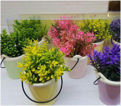 خرید پستی  گلدان سطلی ۴ تایی