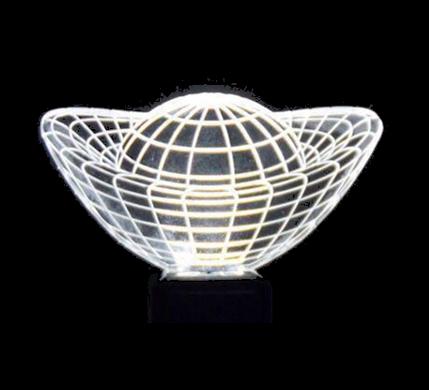 خرید پستی  چراغ خواب های ال ای دی سه بعدی