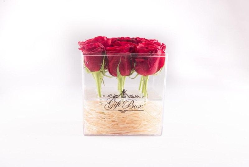 خرید پستی  باکس نگهداری گل کادویی