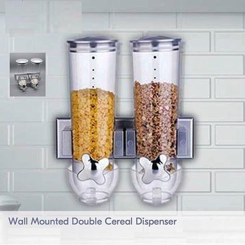 خرید پستی  جا حبوباتی شیردار دیواری 2 مخزن