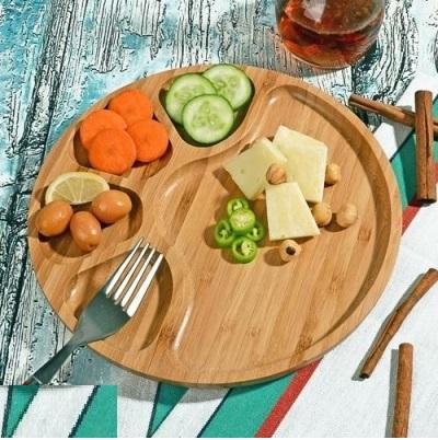 خرید پستی  اردو خوری چوبی بامبو مدل تورتیل