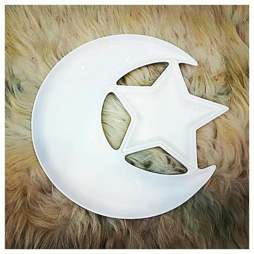 خرید اردو خوری سرامیکی طرح ماه و ستاره