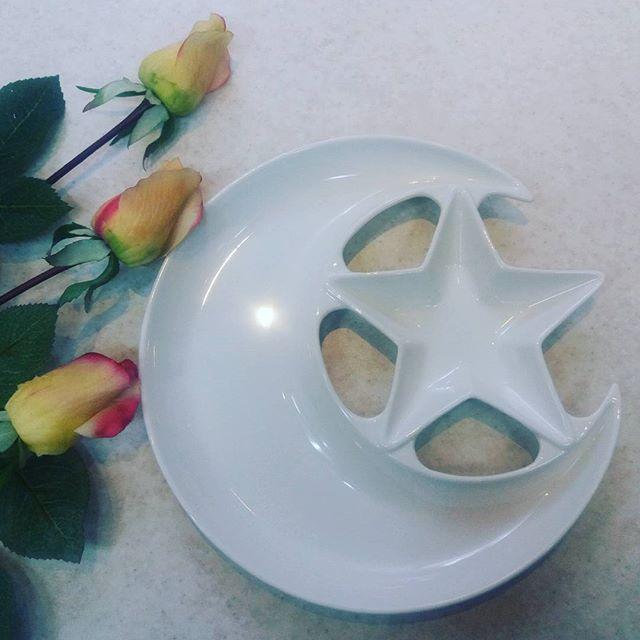 خرید پستی  اردو خوری سرامیکی طرح ماه و ستاره