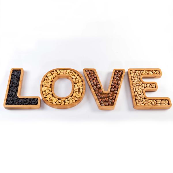 خرید اردو خوری چوبی بامبو LOVE