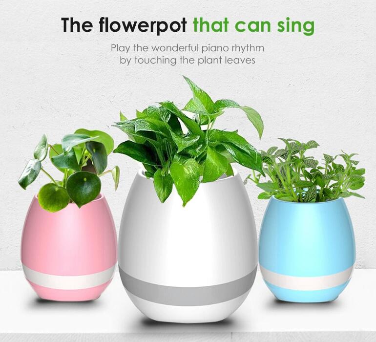 گلدان موزیکال چند منظوره اسپیکر بلوتوث دار هوشمند
