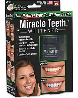 خرید پودر زغال سفید کننده ی دندان میراکل 2021
