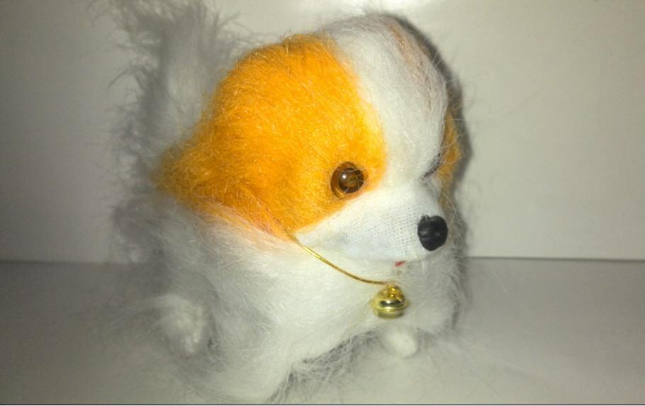 خرید پستی  عروسک سگ کوچک باطری خور