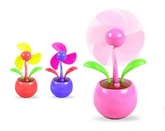 خرید پستی  مینی پنکه رومیزی طرح گلدان