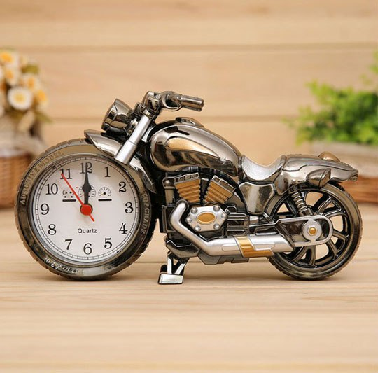 عکس محصول ساعت دکوری آلارم دار طرح موتورسیکلت