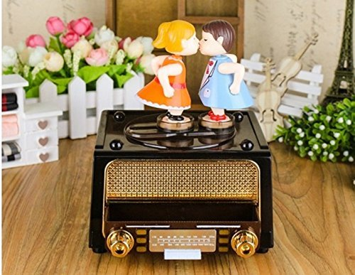 خرید پستی  جعبه جواهرات موزیکال بوسه ای طرح رادیو