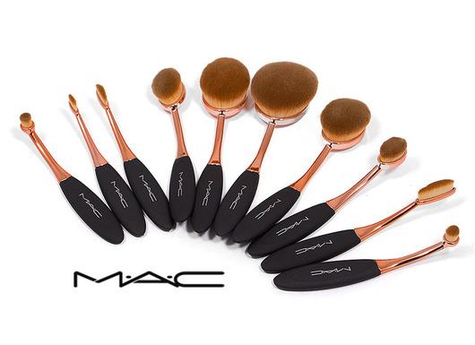 خرید پستی  ست براش آرایش حرفه ای 10 تکه Mac