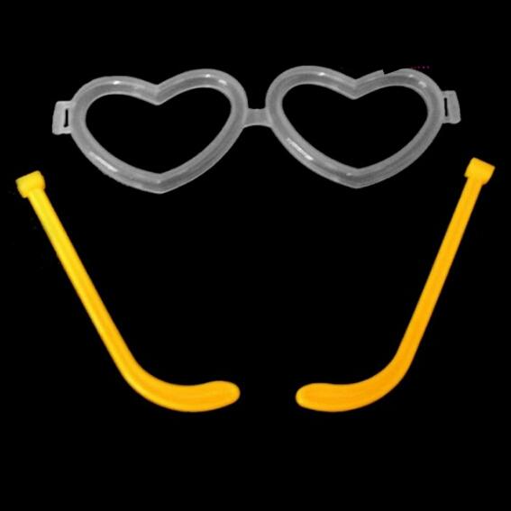 خرید پستی  عینک بلک لایت Glow فریم قلب