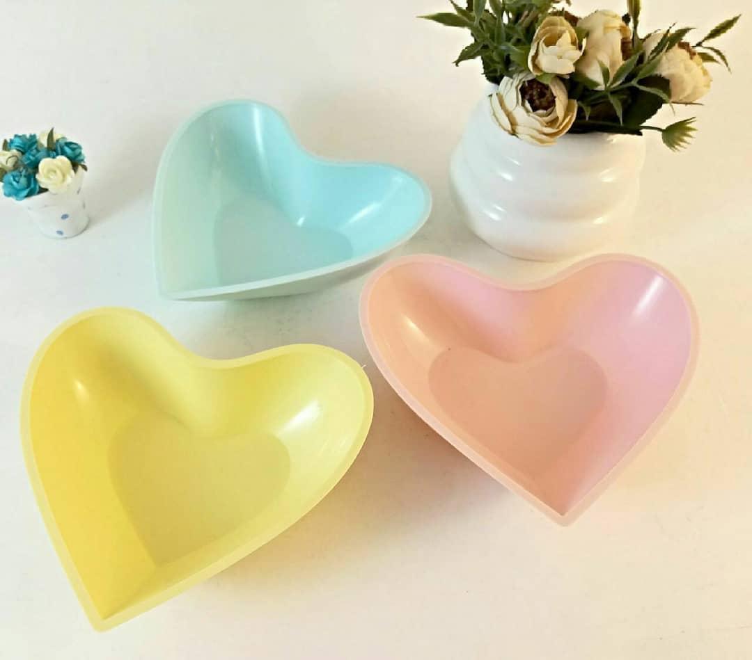 خرید پستی  پیاله های دسرخوری سه تایی قلبی