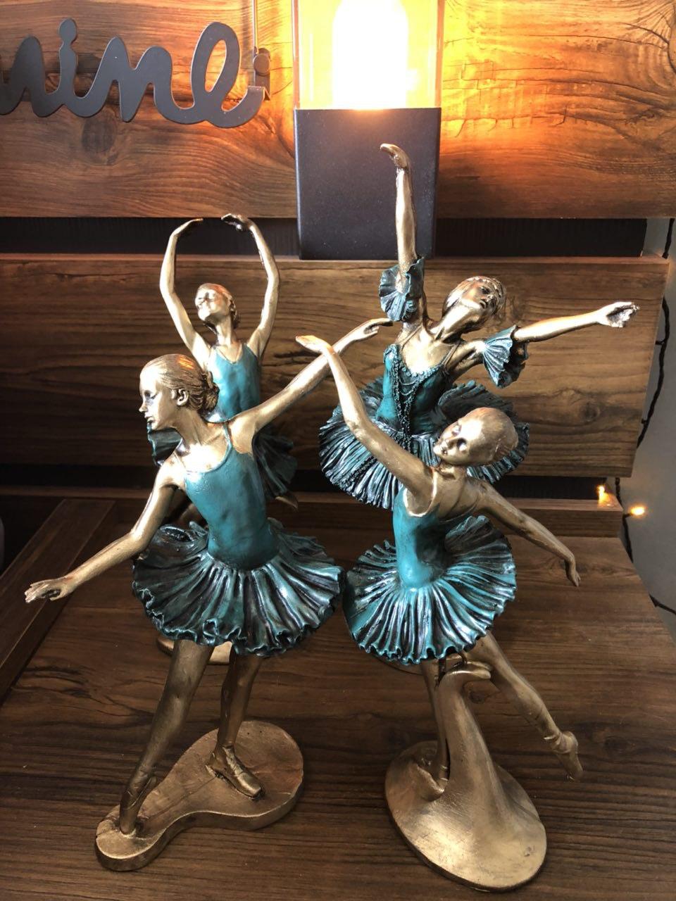 خرید پستی  مجسمه های 4 تایی رقص باله