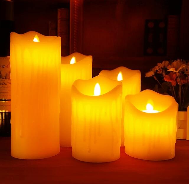 شمع های ال ای دی پارافین خالص 3 تایی