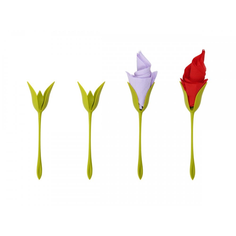 خرید پستی  نگهدارنده ی دستمال سفره طرح گل رز