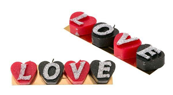 خرید پستی  شمع LOVE در دو طرح