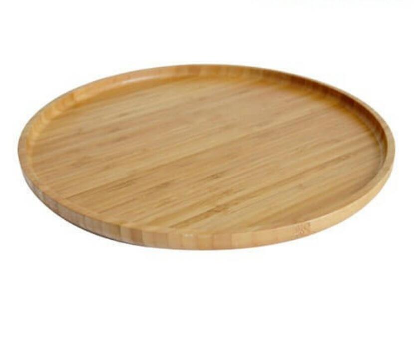 خرید پستی  سینی گرد چوبی بامبو