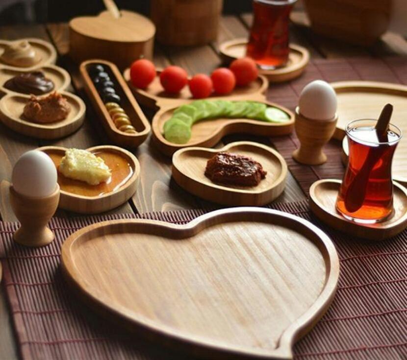 خرید پستی  اردو خوری طرح قلب بامبو