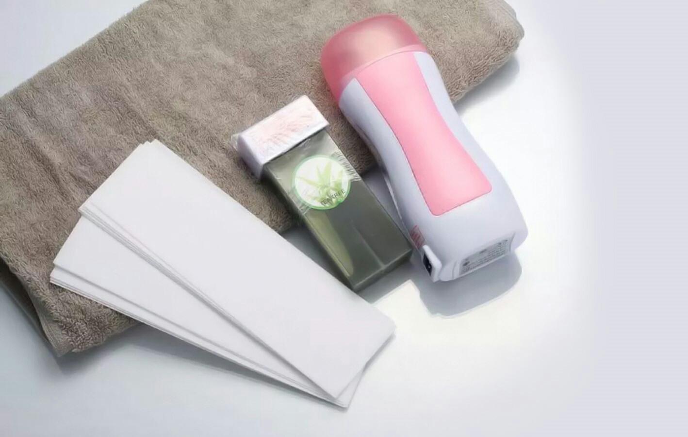 خرید پستی   دستگاه موم گرم کن خشابی به همراه موم DEPILATORY HEATER
