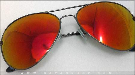 Aviator sunglasses glass fire